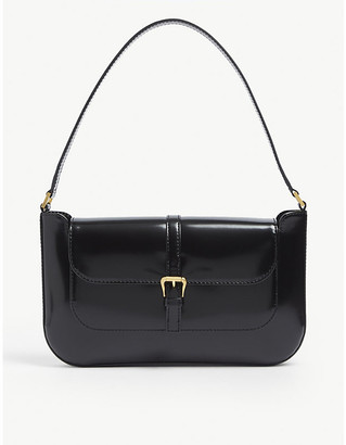 BY FAR Miranda mini semi-patent leather shoulder bag