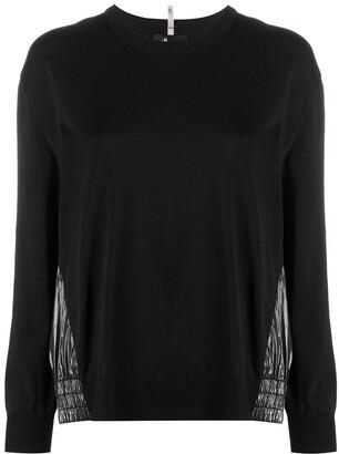MONCLER GRENOBLE Vinyl-Style Panelled Sweatshirt