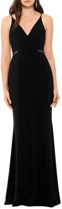 Xscape Evenings Illusion Inset Gown