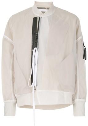 Niløs Layered Style Zipped Bomber Jacket