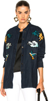 Victoria Victoria Beckham Shacket Jacket in Blue.