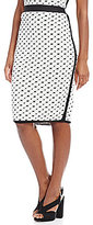 M.S.S.P. Textured Knit Pencil Skirt