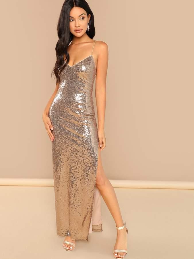 167c18cada Gold Sequin Cami - ShopStyle