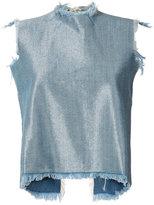 Marques Almeida Marques'almeida - denim tank top - women - Cotton/Rayon/Polyester - S