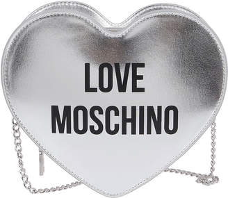 Love Moschino Silver Faux Leather Bag