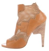 Pierre Hardy Mesh-Paneled Leather Booties
