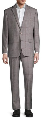 Lauren Ralph Lauren Lofton-Fit Windowpane Plaid Wool-Blend Suit