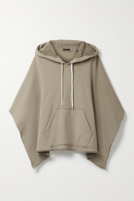 ATM Anthony Thomas Melillo French Cotton-terry Hooded Poncho