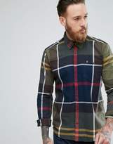 Barbour Alfie Exploded Check Shirt In Slim Fit Green