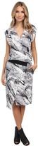 Helmut Lang Terrene Print Silk Contrast Dress
