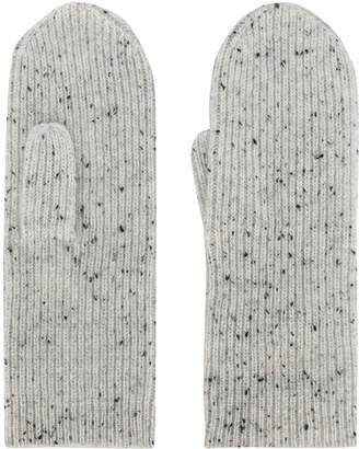 Isabel Marant speckled ribbed mittens