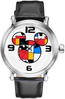 Disney Disney's Mickey Mouse Colorblock Men's Leather Watch