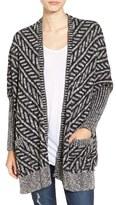 Sun & Shadow Women's Texture Knit Boxy Cardigan