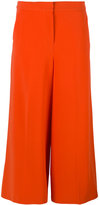 Moschino cropped wide leg trousers - women - Polyester/Triacetate - 40