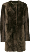 Drome furry detail buttoned up coat