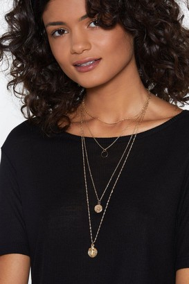Nasty Gal Womens Came Through Drippin' Layered Necklace - Metallics - One Size