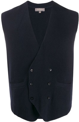 N.Peal double-breasted knitted waistcoat