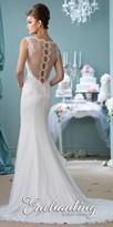 Mon Cheri Enchanting Mermaid Lace Embroidered Wedding Dress