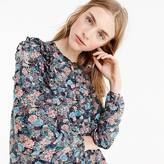 J.Crew Tall ruffle-front top in paisley floral