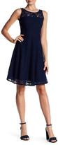 Nine West Sleeveless Lace Fit & Flare Dress