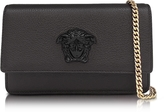 Versace Palazzo Black Grained Leather Small Pouch