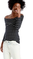 Sole Society Sail Stripe Off Shoulder Top