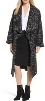 Women's Charles Gray London Drape Front Long Clutch Coat