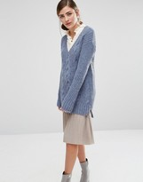 Fashion Union V Neck Knitted Sweater
