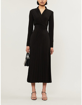 Max Mara Vieste wrap stretch-jersey midi dress