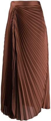 Brunello Cucinelli pleated satin skirt