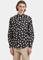J.w. Anderson Heart Print Shirt In Black And White