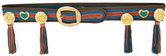 Yves Saint Laurent Pre Owned 1980's Medallion Tassel Belt