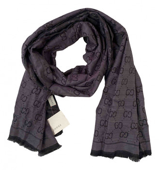 Gucci Grey Cashmere Scarves