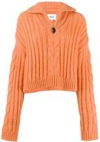 Nanushka half-zip cable knit jumper