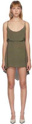 Charlotte Knowles SSENSE Exclusive Grey Silk Coil Dress