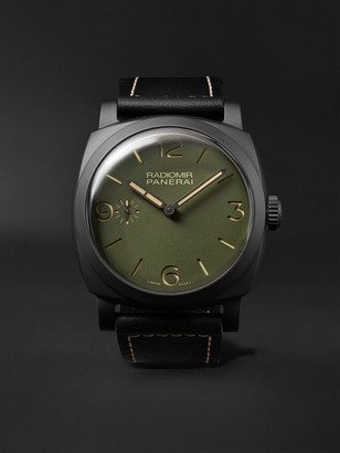 Panerai Radiomir Hand-Wound 48mm Ceramic and Leather Watch, Ref. No. PAM00997 - Men - Green