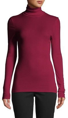 Splendid Turtleneck Cotton-Blend Sweater