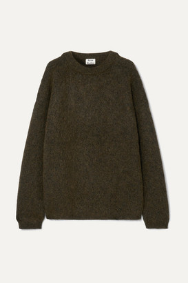 Acne Studios Oversized Knitted Sweater - Army green