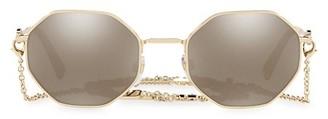 Valentino 52MM Mirrored Chain Geometric Sunglasses