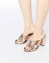 Daisy Street Mule Heeled Sandals