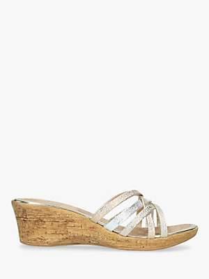 Carvela Comfort Scarlett Wedge Heel Sandals, Metallic
