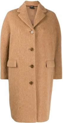 Aspesi brushed finish cocoon coat
