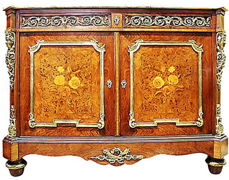 One Kings Lane Vintage 19th-C. French Marquetry Buffet - House of Charm Antiques