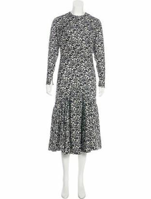 Calvin Klein Floral Print Silk Dress w/ Tags Black Floral Print Silk Dress w/ Tags