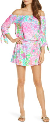 Lilly Pulitzer Lana Off the Shoulder Skort Romper