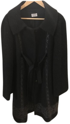 Philosophy di Alberta Ferretti Black Wool Coat for Women