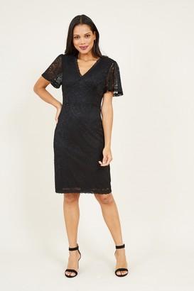 Yumi Black Lace Bodycon Dress