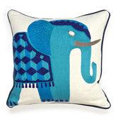 Jonathan Adler Jaipur Elephant Beaded Linen Throw Pillow
