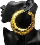 Zaki Sparking Sequin Dazzle Hoop Earrings Earring Party Wear