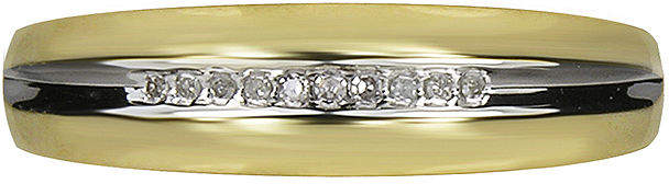 JCPenney MODERN BRIDE Mens Diamond-Accent 10K Yellow Gold Wedding Band